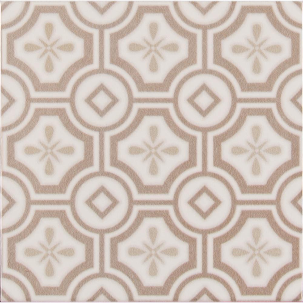 Camilla Encaustic Pattern 5 in. x 5 in. Glazed Ceramic Wall Tile (10.70 sq. ft. / case)