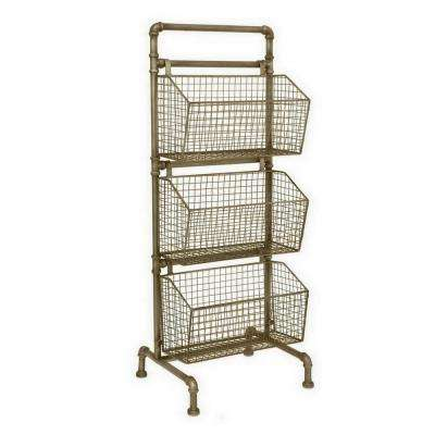 13.5 in. x 15.5 in. Storage Rack in Gold