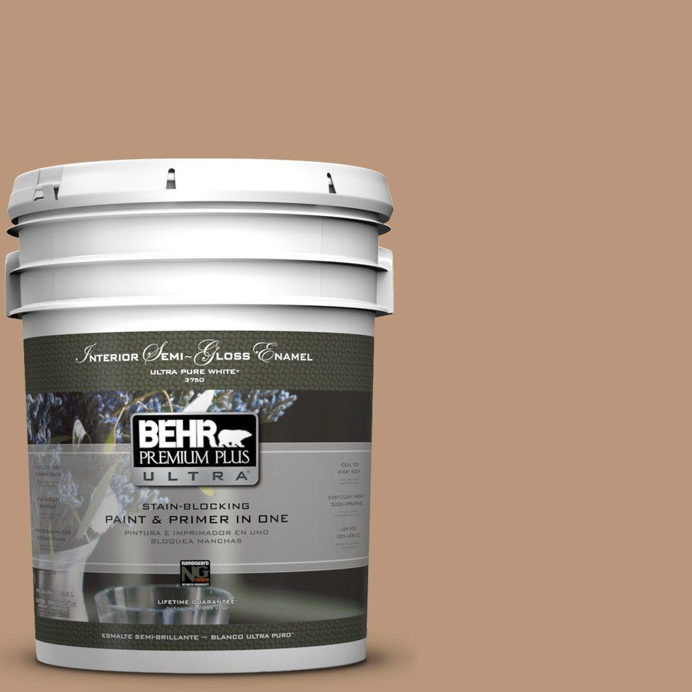 BEHR Premium Plus Ultra 5-gal. #N250-4 Artisan Crafts Semi-Gloss Enamel Interior Paint