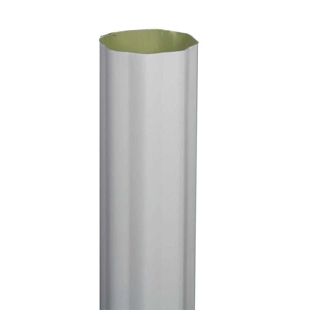 Amerimax Home Products 3 In X 4 In Aluminum Downspout A