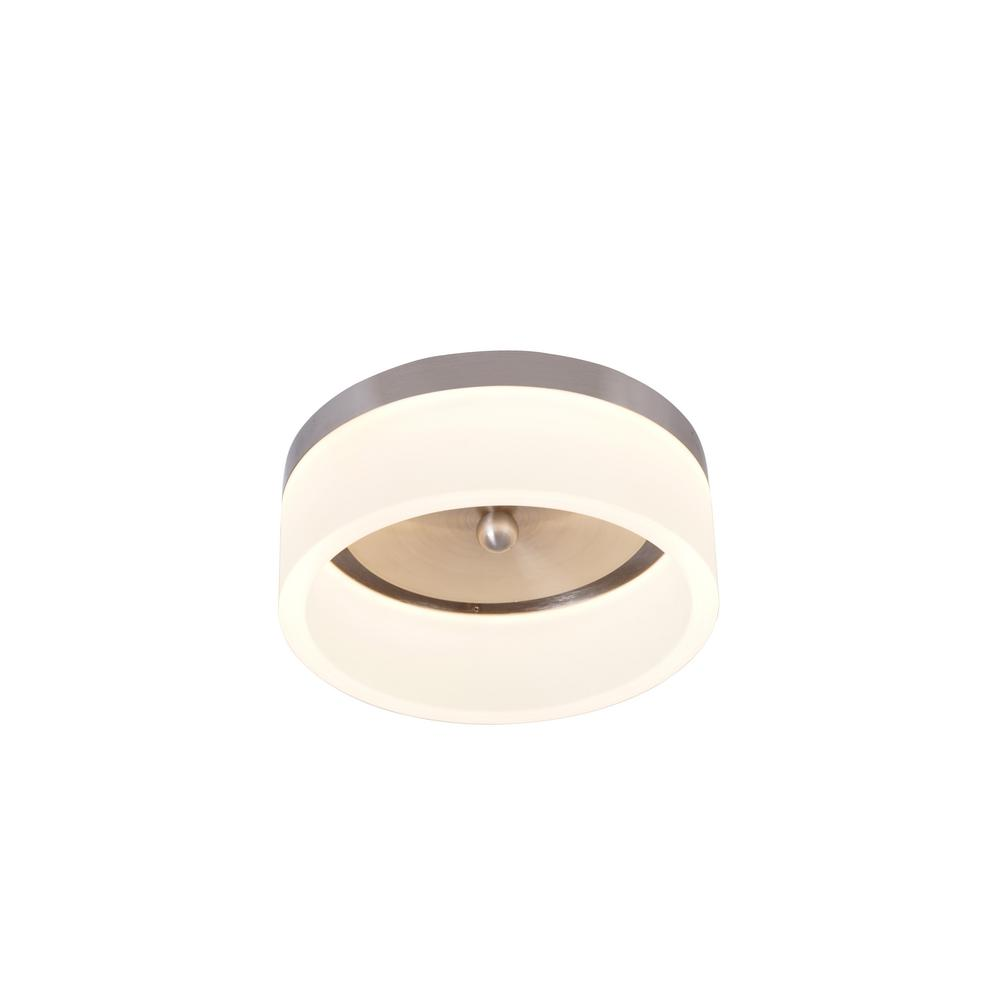 Home Decorators Collection 7.85 in. 12-Watt Brushed Nickel Integrated LED Ceiling Flush Mount