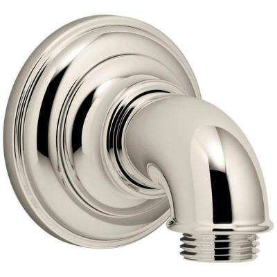 Artifacts 1/2 in. Metal 90-Degree NPT Wall-Mount Supply Elbow in Vibrant Polished Nickel