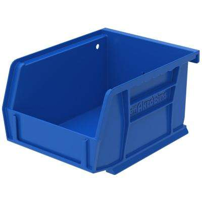Shelf Bin 10 lbs. 11-5/8 in. x 4-1/8 in. x 4 in. Storage Tote in Blue with 0.5 Gal. Storage Capacity