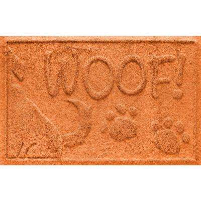 Orange 18 in. x 28 in. Wag the Dog Polypropylene Pet Mat