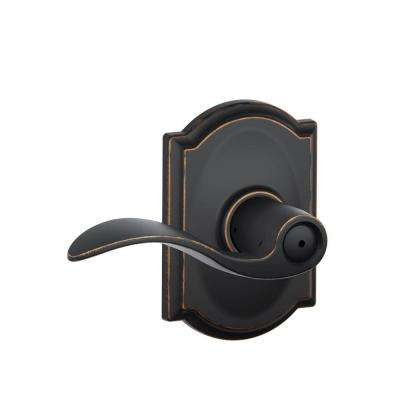 Camelot Collection Accent Aged Bronze Bed and Bath Lever