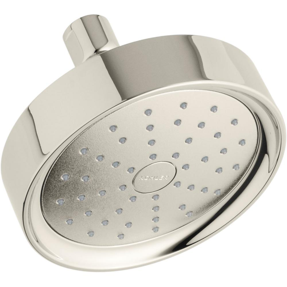 KOHLER Purist 1-Spray 5.5 in. Showerhead with Katalyst Air Induction Technology in Vibrant Polished Nickel