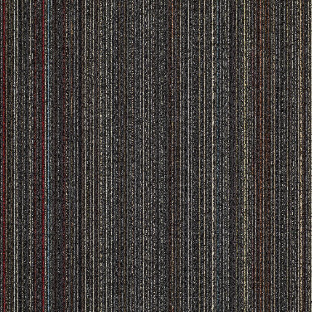 Invision Assembler Black 24 in. x 24 in. Modular Carpet Tile Kit (18 Tiles/Case)