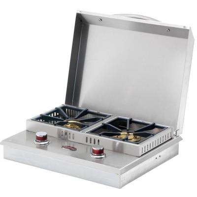 Stainless Steel Built-In Dual Fuel Gas Double Side Burner