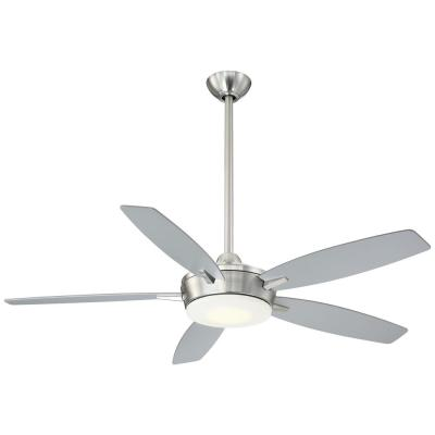 Espace 52 in. Integrated LED Indoor Brushed Nickel Ceiling Fan with Light with Remote Control