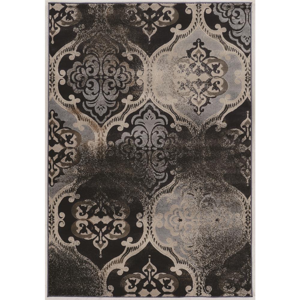 Linon Home Decor Jewell Collection Vintage K Arthur Black Gray And
