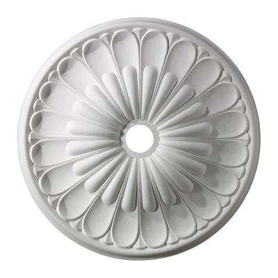 Melon Reed 32 in. White Ceiling Medallion