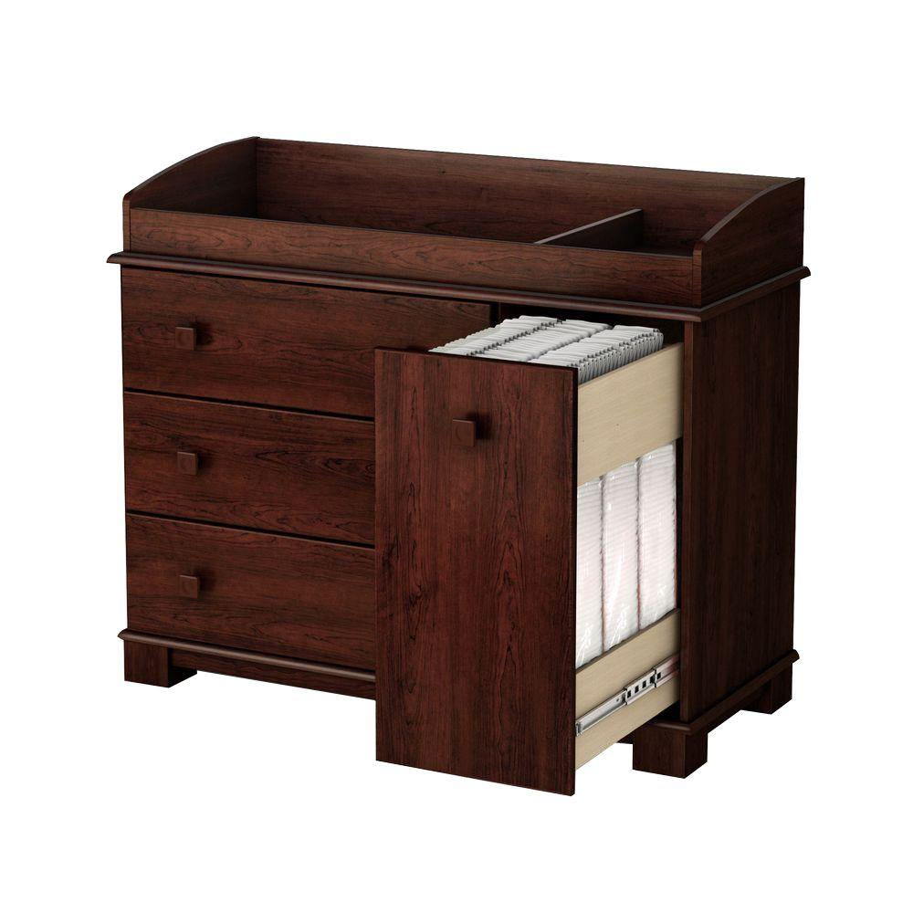 South Shore 4-Drawer Changing Table in Precious Royal Cherry