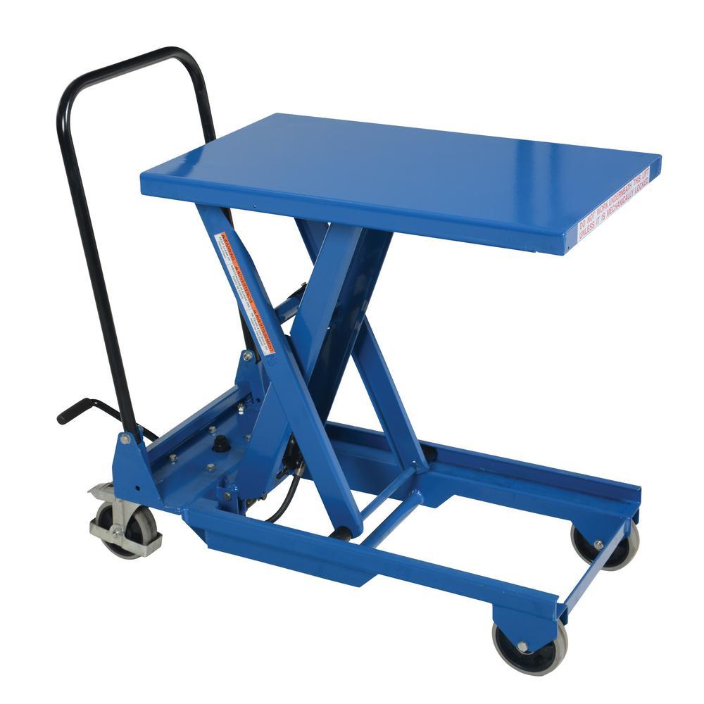Vestil 300 lb. Capacity 18 in. x 30 in. Premium Single Scissor Cart