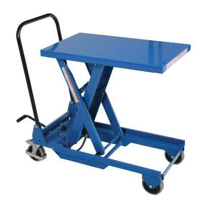 300 lb. Capacity 18 in. x 30 in. Premium Single Scissor Cart