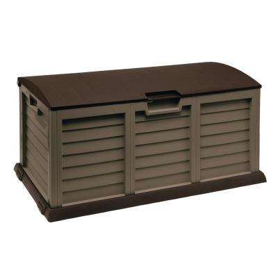 103 Gal. Plastic Mocha/Brown Deck Box with Dome Lid