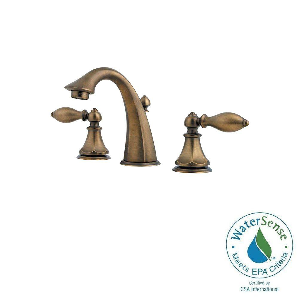 Pfister Catalina 8 in. Widespread 2-Handle High-Arc Bathroom Faucet in Velvet Aged Bronze