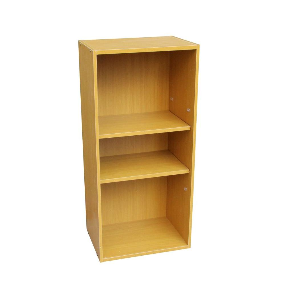ORE International Beige Adjustable Open Bookcase