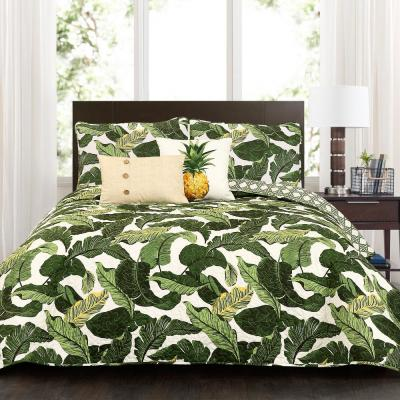 Tropical Paradise Quilt Green 5-Piece King Set