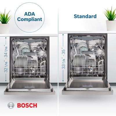 300 Series 24 in. ADA Front Control Dishwasher in Stainless Steel with Stainless Steel Tub, 46dBA