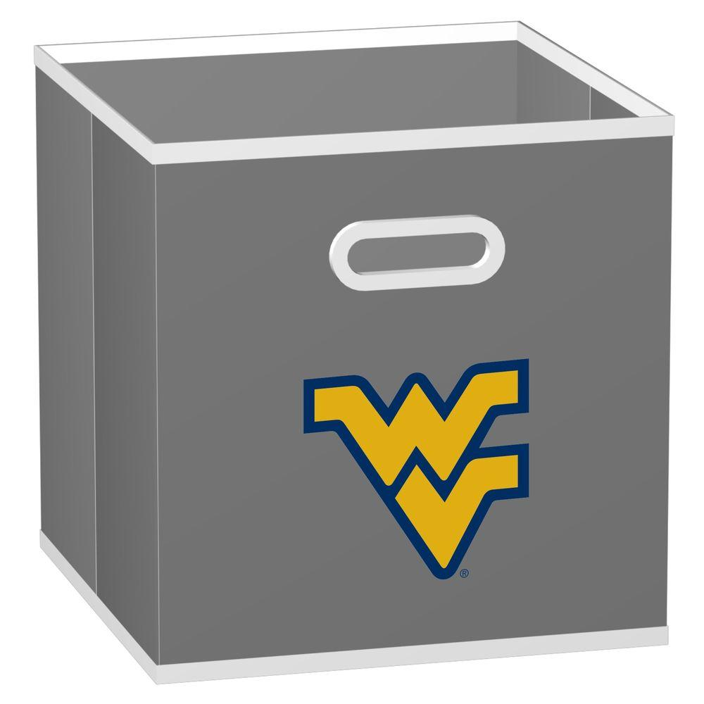 MyOwnersBox College Storeits West Virginia University 10-1/2 in. x 11 in. Grey Fabric Storage Drawer