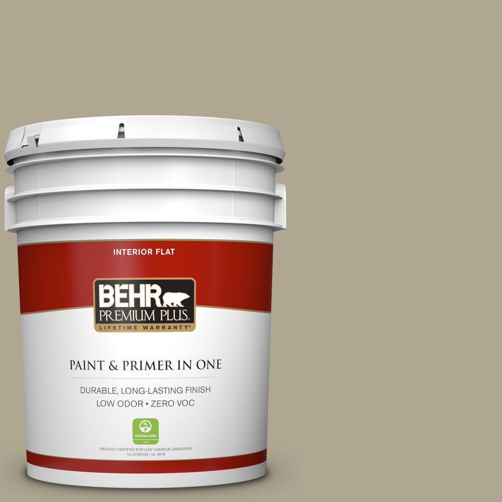 BEHR Premium Plus 5-gal. #BXC-22 Field Khaki Flat Interior Paint