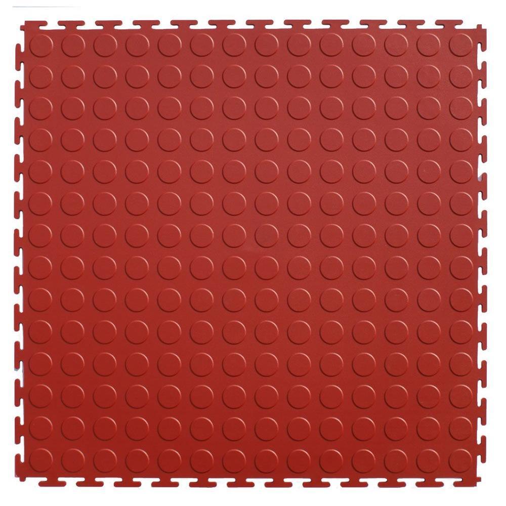 IT-tile 20-1/2 in. x 20-1/2 in. Coin Terracotta PVC Interlocking Multi-Purpose Flooring Tiles (23.25 sq. ft./case)
