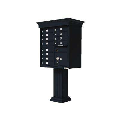 Vital 1570 12 Mailboxes 1 Parcel Locker 1 Outgoing Pedestal Mount Cluster Box Unit