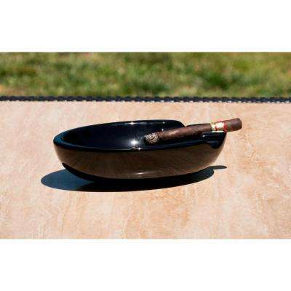 Bradford Black Ceramic Cigar Ashtray