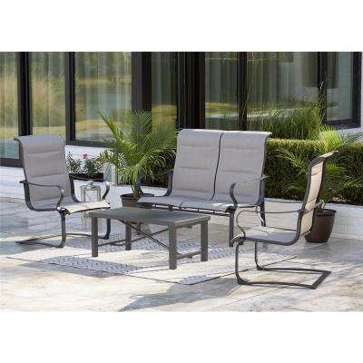 SmartConnect 4-Piece Metal Sling Patio Conversation Set