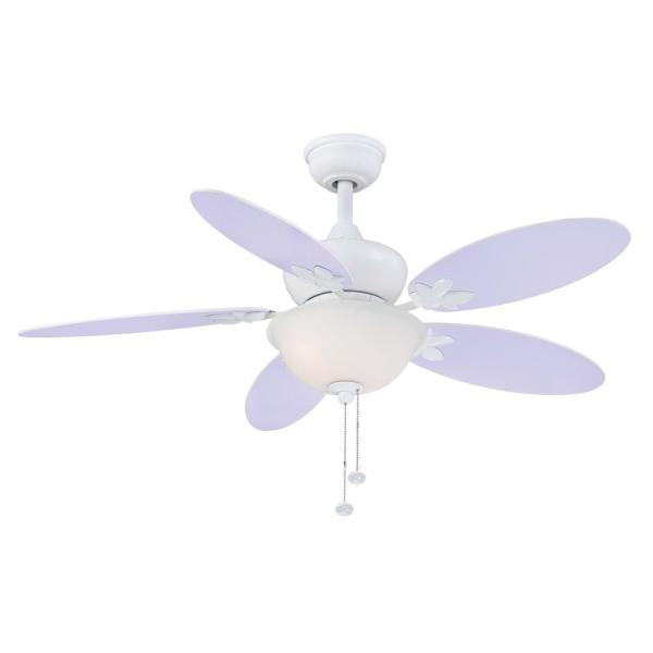 Harper III 44 in. LED White Ceiling Fan with Light Kit