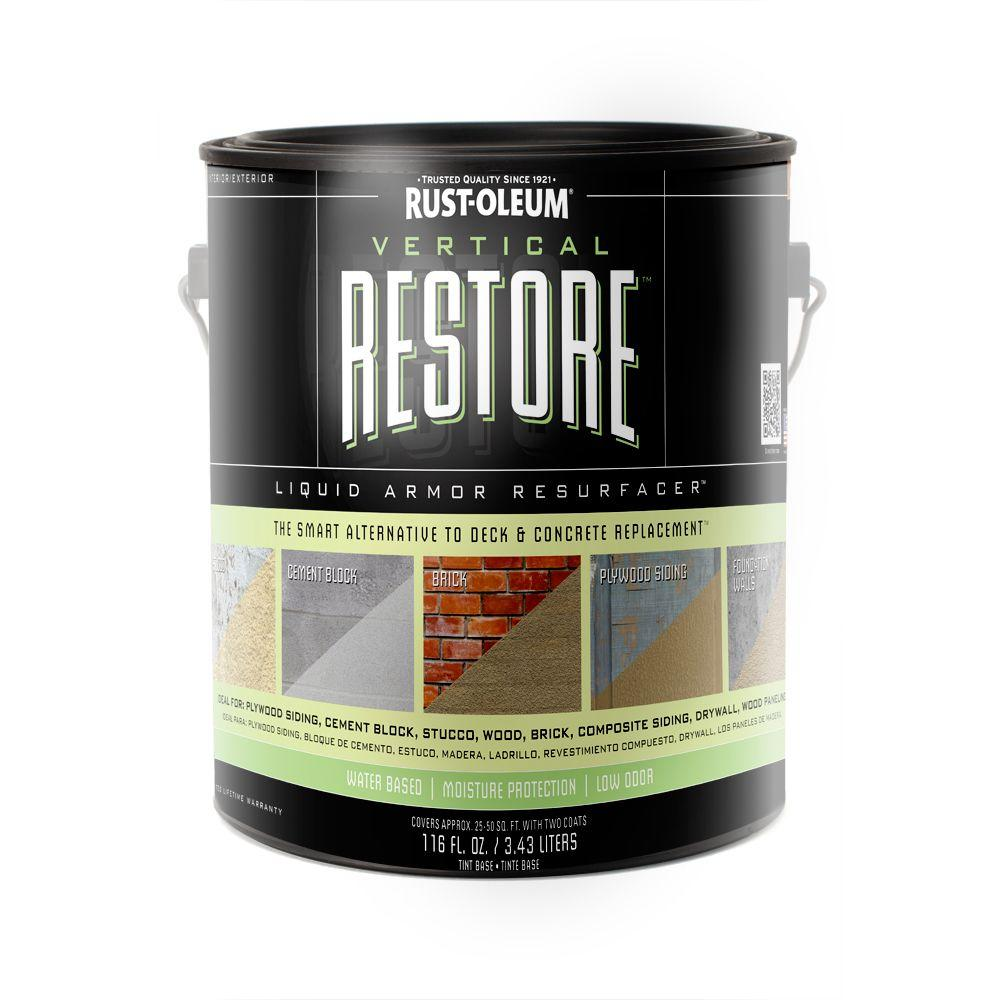 Restore 1-gal. Tint Base Vertical Liquid Armor Resurfacer for Walls and Siding