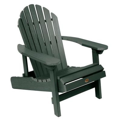 Hamilton Charleston Green Folding and Reclining Plastic Adirondack Chair