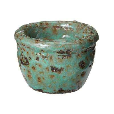 2 in. Rustic Jungle Earthenware Tea Light Candle Holder