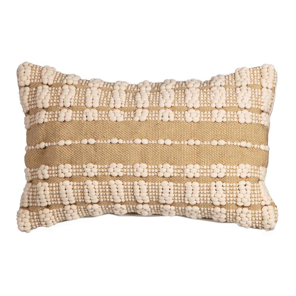 Dashed Stitch Outdoor Lumbar Throw Pillow (2-Pack)