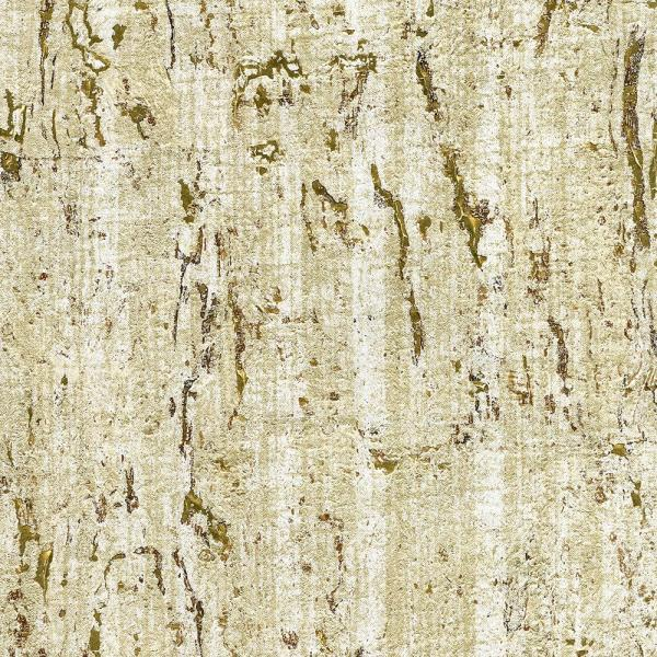 Kenneth James 72 sq. ft. Samal Gold Cork Wallpaper