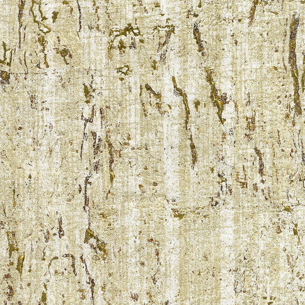 8 in. x 10 in. Samal Gold Cork Wallpaper Sample