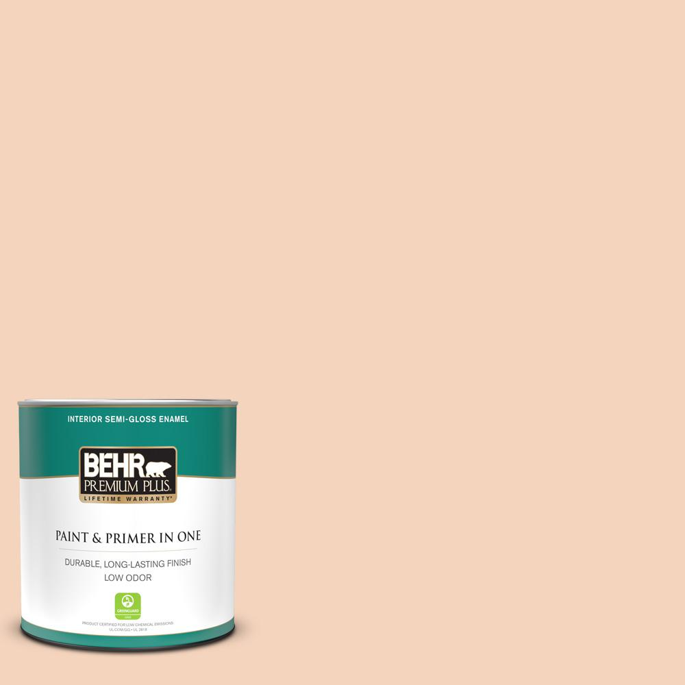 Reviews For Behr Premium Plus 1 Qt Bxc 37 Miami Stucco Semi Gloss Enamel Low Odor Interior Paint And Primer In One 305004 The Home Depot