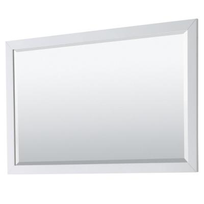 Daria 58 in. W x 36 in. H Framed Rectangular Bathroom Vanity Mirror in White