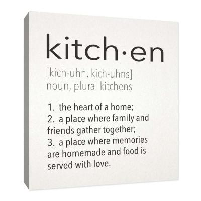 """12 in. x 10 in. """"Kitch.en'' By PTM Images Printed Canvas Wall Art"""