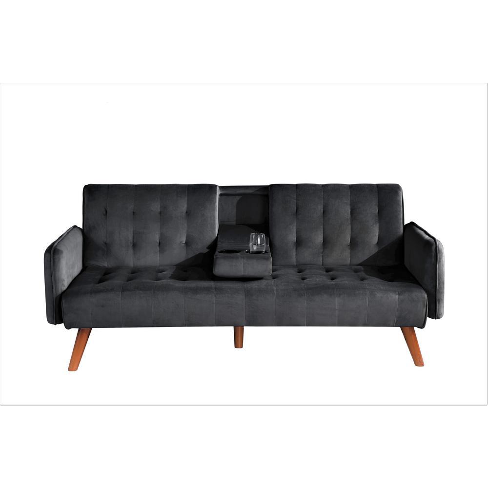 Carrington Black Convertible Sleeper Sofa Bed