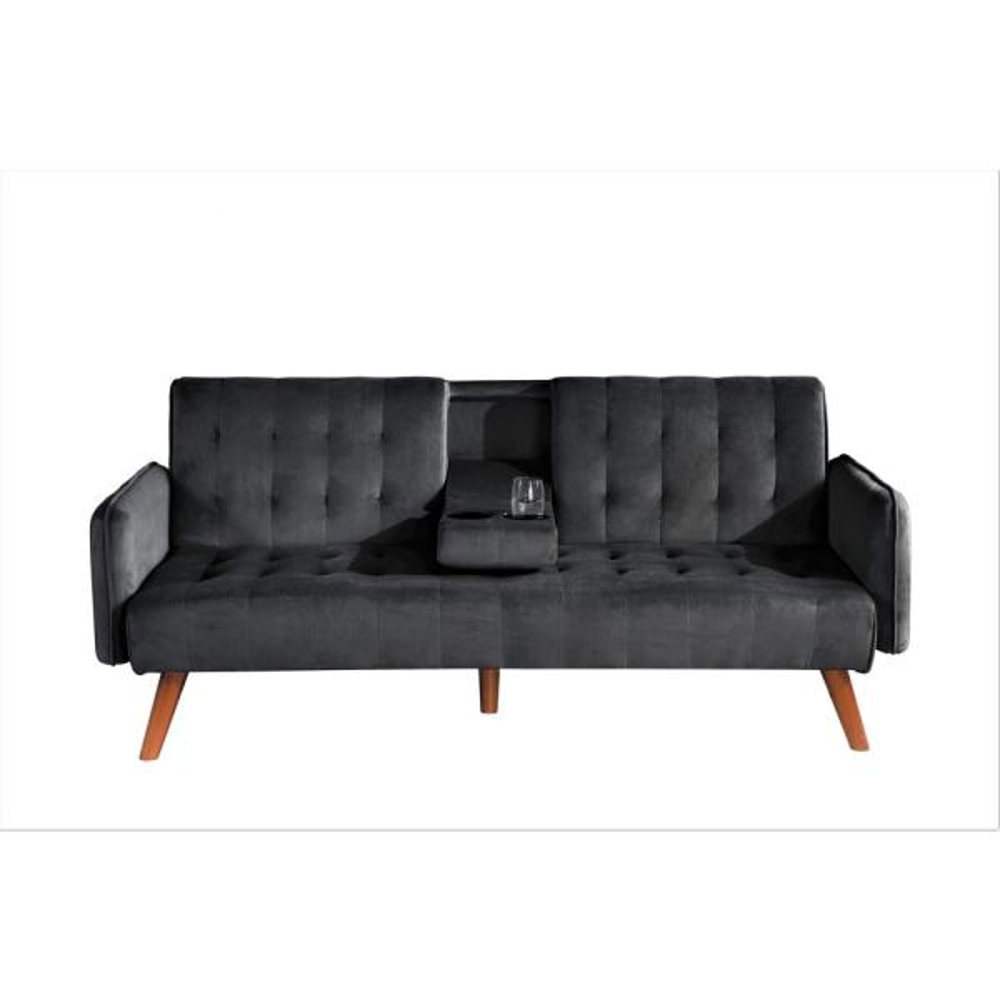 Black Convertible Sleeper Sofa Bed