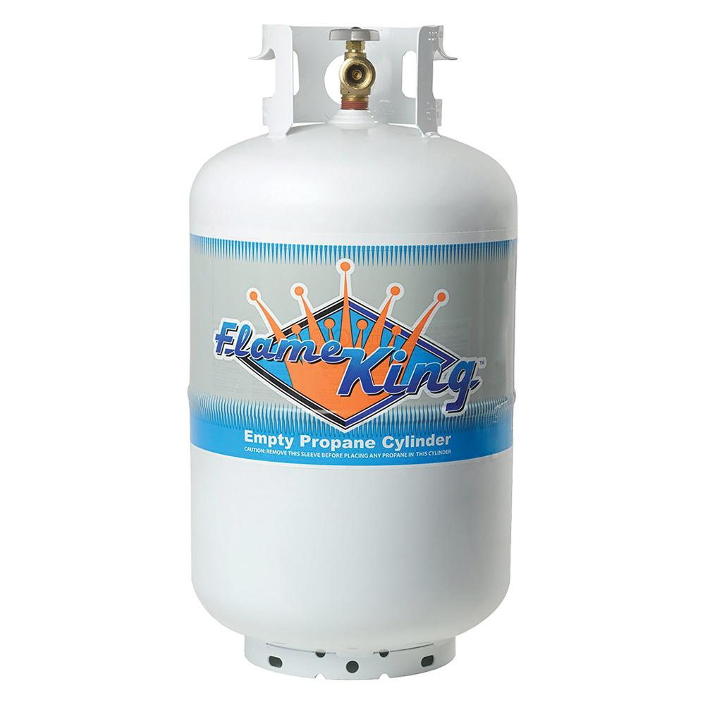 30 Lbs. Empty Propane Cylinder Tank Valve High Grade Steel Overfill Protection