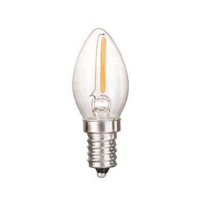 0.5-Watt Equivalent C7 Dimmable Clear Filament Glass LED Night Light Bulb Warm White 2700K