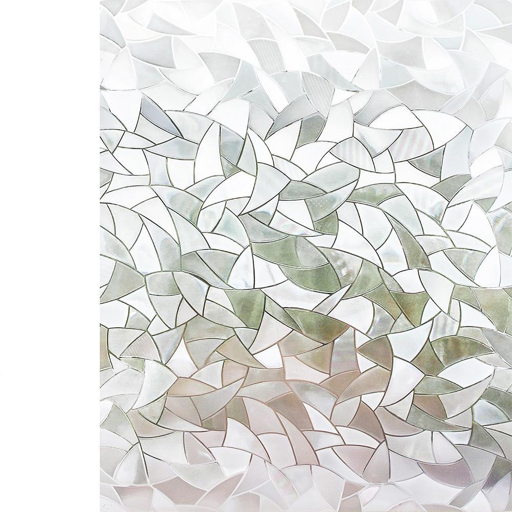 Privacy Glass Film CELE Patterned Decorative Clear /& Back Window Film
