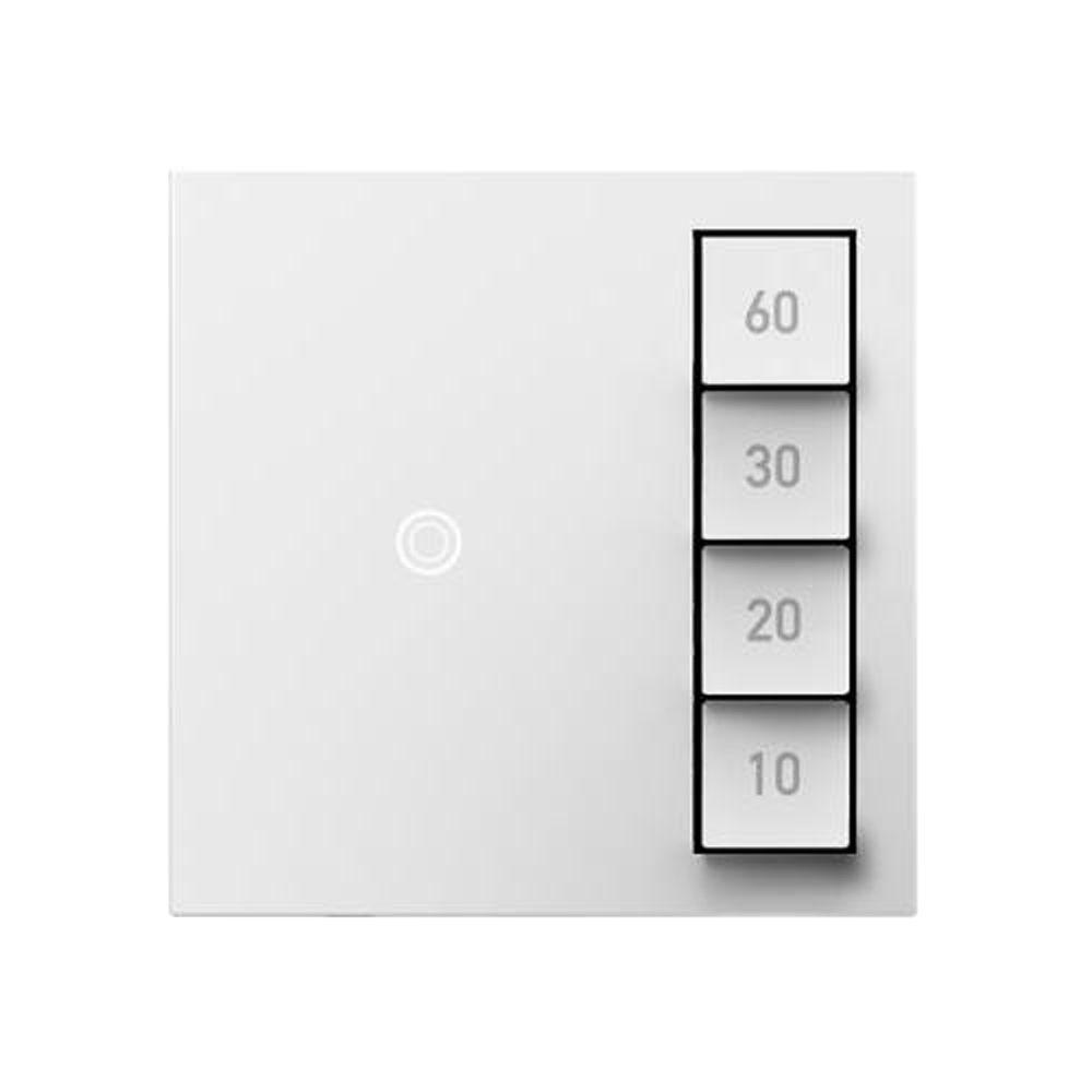Legrand adorne 15 Amp 60 Minutes In-Wall Digital Touch Timer Sensor Switch, White