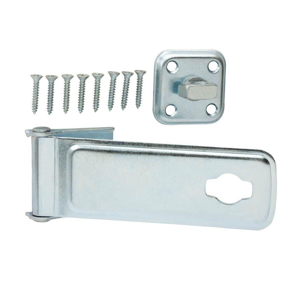6 in. Zinc-Plated Latch Post Safety Hasp