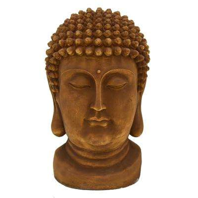 32.25 in. Buddha Head In Brown