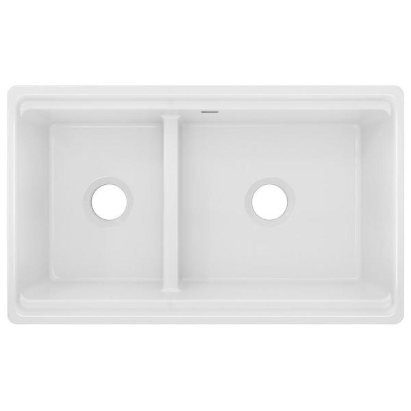 Vigo Matte Stone White Composite 36 In Single Bowl Reversible Slotted Farmhouse Apron Front Kitchen Sink With Strainer Vgra3618cs The Home Depot