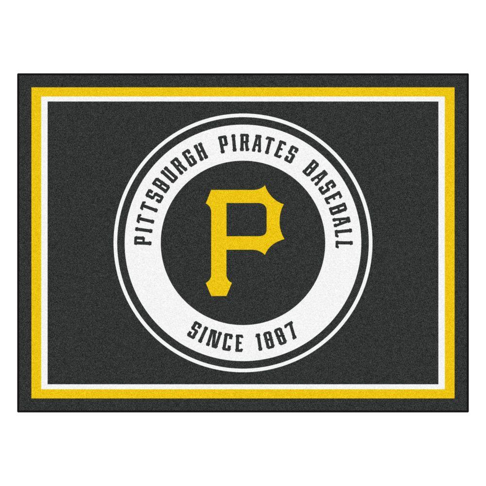 Fanmats Mlb Pittsburgh Pirates Black 8 Ft X 10 Ft Indoor