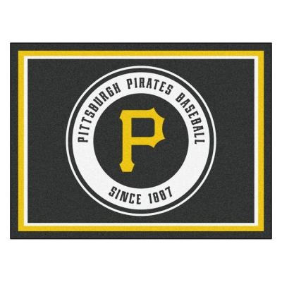 MLB Pittsburgh Pirates Black 8 ft. x 10 ft. Indoor Area Rug
